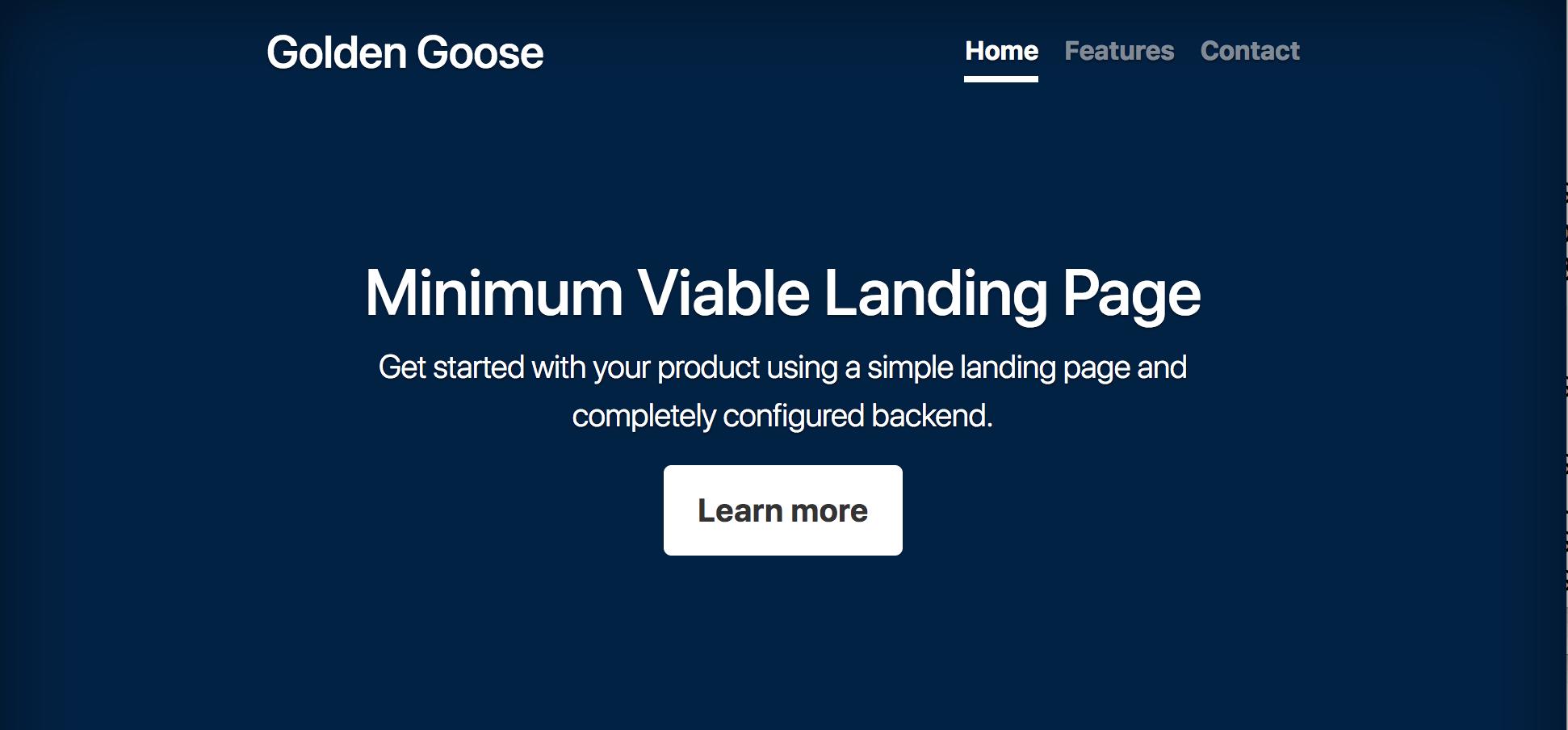 Minimum Viable Landing Page